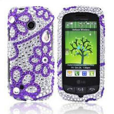 LG Cosmos Touch VN270 Diamond Crystal BLING Hard Case Phone Cover Purple Lace