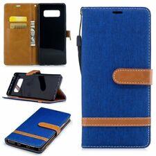 Samsung Galaxy Note 8 Couverture Téléphone Sac de Protection Étui Bleu Bleu