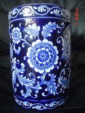The Pier China Oriental Import Large Storage Jar MANDARIN Blue And White RARE!