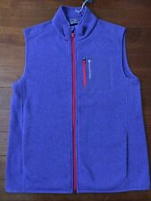 Vineyard Vines Sweater Fleece Vest Zip Up Blue Boys Size XL (18) NWT