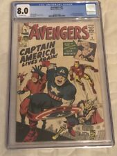 AVENGERS #4 CGC 8.0 Off White Pages First Silver Age Captain America