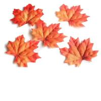 400 Assorted Mixed Fall Colored Artificial Maple Leaves for Weddings Event Party