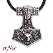 etNox 925 Silber Anhänger Thors Hammer Wolfskopf +Band+Geschenkbox+Bedeutung
