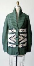 168. Anthropologie Candela Green Navajo Collared Sweater M Cardigan