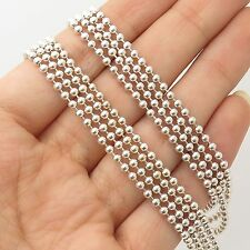 """Milor Italy 925 Sterling Silver  Multi Strand Bead Chain Necklace 18"""""""