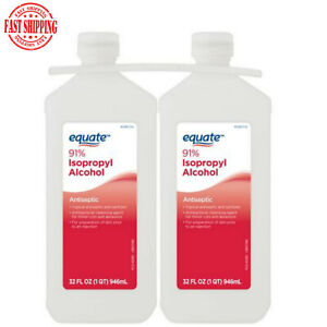 Equate 32Oz 91% Isopropyl Alcohol Twin Pack