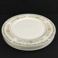 Set of 3 VTG Dinner Plates Roseville Japan Translucent Fine China 4135 Floral