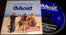 JOHNNY HALLYDAY CD PROMO AVEC TAMPON RTL 15 AOUT PAUVRES DIABLES VOUS LES FEMMES