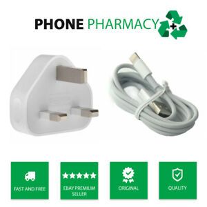 Genuine Apple iPhone Mains Charger & USB Data Cable For iPhone 6 7 8 Plus 11 XS