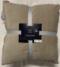 """Hallmark Collectibles Beige 20"""" Velvet 2 Pack Decororative Pillows"""