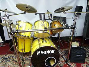 schönes SONOR Schlagzeug (Force 2000) gelb Made in Germany (Re24)