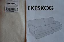 EKESKOG 3er Sofa Bezug CREME WEISS 3-Sitzer NEU hellbeige IKEA cover RARITÄT