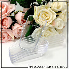 CLEAR PLASTIC MINI SCOOPS WEDDING SUGAR SWEET BUFFET CANDY PARTY x 5
