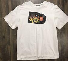 White Nike Las Vegas Bigfoot Hoops T-Shirt Size 2Xl Cotton Shirt Xxl Basketball