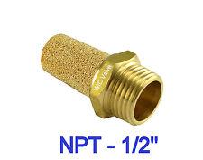 Latón Electroválvula Silenciador Conector NPT 1.3cm Ruido Reductor 5 Piezas