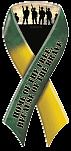 """Home of the Free Because of the Brave"" Ribbon Magnet"