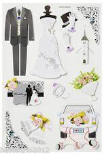 Sticker CREApop Hochzeit just Married Scrapbooking Einladung Danksagung Deko