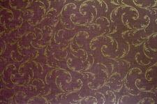 Beacon House Burgundy Wine Gold Scroll Wallpaper - 64313