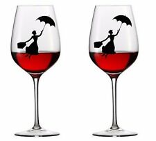9 x Mary Poppins  Vinyl Decal Wine Glass stickers