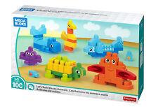 Fisher Price Mega Bloks Let's Build Ocean Animals Building Blocks 100 Pcs