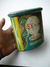 "Antique Rare Tin Empty Box Green Tea ""LE ROSSIGNOL"" Decorated with a Bird"