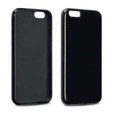 Black TPU Gel / Rubber Case for Apple iPhone 6/6S (4.7 Inch)