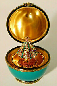 Faberge Limoges Christmas Egg with Tree Ltd. Edition France RARE