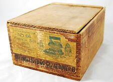 Antique Wood Box Advertising Dover Mfg Asbestos Covered Sadiruns Iron Dovetail