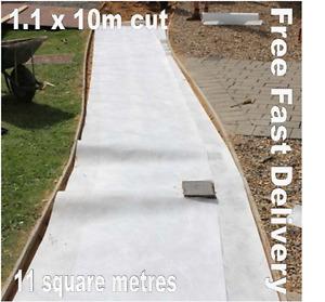 Geotextile Fleece Fabric Membrane Soakaway Weed FAST n FREE 11m2 - 1.1 x 10m