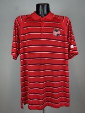 Men's Adidas Indiana Fever WNBA Basketball Red Striped SS Golf Polo XL NWOT