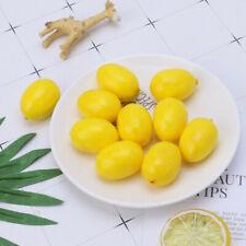 20pcs Mini Artificial Fake Fruit Yellow Lemons Simulation Fruit Decorations