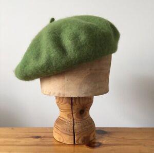 Woolmark 100% Wool Beret Hat One Size / Fern Green