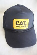 CAT DIESEL POWER HAT, WITH EMBROIDERY PATCH  COLOR NAVY BLUE ADJUSTABLE SNAPS