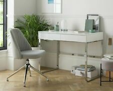 Home Sammy 2 Drawer Desk - White Gloss