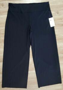 Athleta Womens Pants Size 1X Meridian Wide Leg Black
