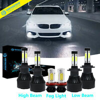 For BMW 328i 325xi 330xi 2002-06 Combo 6x LED Headlight H-L Fog Lights Kit 6000K