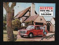 """1968 """"THE AUSTIN 1100 SALOON MARK MK II"""" CATALOG SALES BROCHURE 2 & 4 DOOR"""