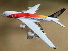 20CM Solid SINGAPORE AIRBUS A380 Passenger Plane Airplane Metal Diecast Model