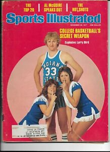 November 28 1977 Sports Illustrated Larry Bird Indiana State 1st Cover See Scans