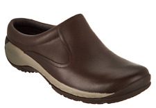 Merrell Leather Slip-On Clogs - Encore Q2 Espresso Brown Size 6W Wide Women's