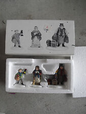 Department 56 Heritage Village Come to the Inn 3 Figurine Set Nib 5560-3