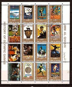 Umm El Kiwain 2 Blocks: SPORTS Olympic (See Item Specifics) BL125