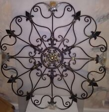 """YL CRAFTS METAL MOUNTED MEDALLION HAND PAINTED BLACK 30"""" X 30"""" S-51"""