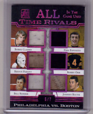 CLARKE PARENT BARBER ESPOSITO BOBBY ORR 17/18 Leaf In The Game-Used Patch Jersey