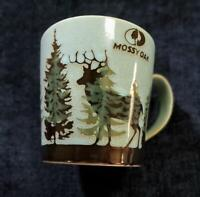 Mossy Oak Large Coffee Mug Cup Stag Design Blue Black Pine Forest Wilderness