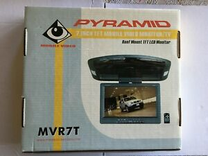 """Pyramid 7"""" Widescreen TFT/ LCD Mobile Video Roof Mount Monitor MVR7T"""
