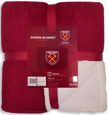 West Ham United Sherpa Fleece Blanket Soft Official Licensed Football Product