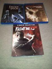 Friday the 13th: 8-Movie Collection , Freddy vs Jason , Killer Cut Blu-Ray lot