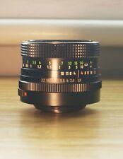 Zeiss Pancolar 1.8 50mm MC declicked aperture + EF adapter