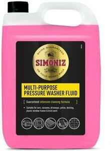 Simoniz Multi-Use Pressure Washer Fluid 5lt(MultiColor) For Car Wash Patio Clean